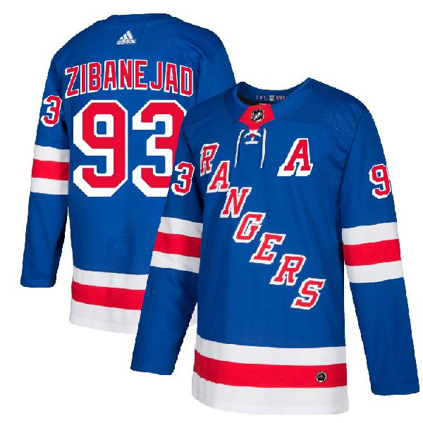 (2 ЦВЕТА) Джерси New York Rangers ZIBANEJAD #93
