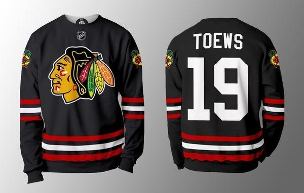 (ЛЮБАЯ ФАМИЛИЯ) Хоккейная кофта Chicago Blackhawks